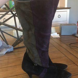 None West colour block boots